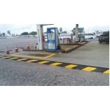 demarcação para postos de combustível