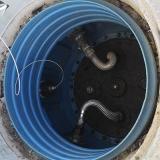 medição tanque de combustível de posto de gasolina